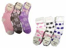 New Womens Girls Fluffy Slipper Socks Size 4 5 6 Winter Cosy Bed Sock EUR 37-40