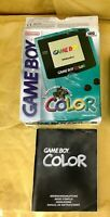 Scatola originale Nintendo gameBoy color Teal turchese GIG Italia box e manuale