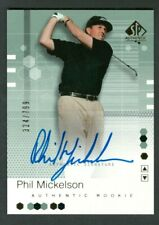 2002 UD SP Authentic SPA Phil Mickelson Auto Autographed Rookie RC #324/799