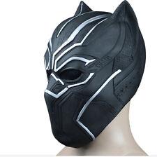 Deluxe Adult Black Panther Mask Latex Halloween Superhero Mask Infinity War