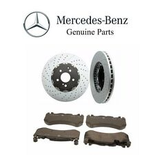 For Mercedes-Benz C63 AMG E63 AMG Set of 2 Front Disc Brake Rotors & Pads