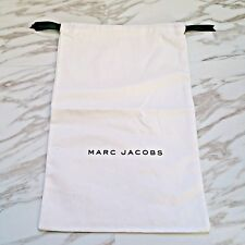 MARC JACOBS White Drawstring Travel Protector Shoes Dust Bag - NEW 10.5 x 16.5