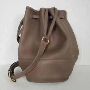 COACH Vintage Classics Bixby # J5D 9984 Taupe Leather Bucket Shoulder Sling Bag