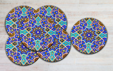 Turkish Ethnic Drink Coasters x 6 Non fading