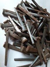 "100  2-1/4""  Square Head Nails Decorative Antique Wrought Iron  Patina Vintage"