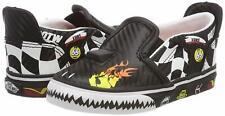 Vans Asher V Vansracer Black/Scarlet Toddler Shoes 5.5