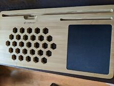 LapGear BamBoard Lap Desk with Phone or Tablet Holder - Natural Bamboo