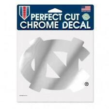 North Carolina Tar Heels 6x6 Chrome Silver Auto Decal [NEW] Car Emblem Sticker