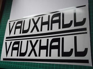 VAUXHALL panel skirt car vinyl sticker decal x2