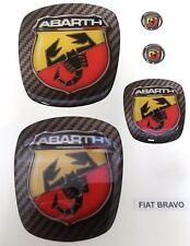 STEMMI FIAT 500/PUNTO/BRAVO STILE ABARTH SCORPIONE  ADESIVO 3D RESINATO TUNING