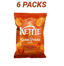 Kettle & Sweet Potato Slices Smoked Paprika & Creme Fraiche | 6 Packs | 150g |