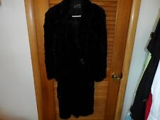 Ladies vintage black genuine fur coat by Liebs Furs