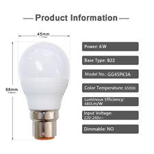 EXTRASTAR 8W 10W LED Bulb B22 Socket Light Bulb Energy Saving A+ 6 Pieces