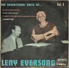 """LENY EVERSONG """"SAINT LOUIS BLUES"""" 50'S EP CORAL 18076"""