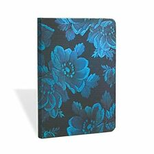 "Paperblanks Journal, Chic & Satin Blue Muse Midi Lined, 176 Pages, 4.75"" x 6.75"""
