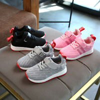 New Children Students Sports Shoes Kids Boys Girls Running Shoes Size 8.5-3