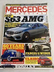 Mercedes Enthusiast. November 2013. 450 SEL 6.9. S63 AMG. Ponton. Cla 180.