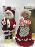 Vintage Mr Mrs Santa Claus Animated Christmas Figures Telco Motionettes 1992