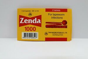 30 Tablets Zenda1000 for tapeworm infections