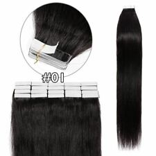 Seamless Straight 16-26inch Tape in Remy Human Real Hair Extensions Smooth