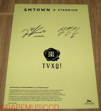 TVXQ! SMTOWN STARDIUM SM OFFICIAL GOODS AUTOGRAPH SIGNATURE STICKER NEW