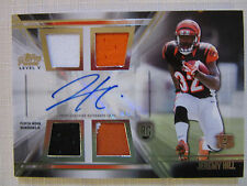 2014 Topps Prime Level V Quad Tri-Color Materials, Auto, Rookie  Jeremy Hill