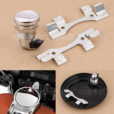 Push Button Fuel Door Latch Kit For Harley Electra Glide Standard FLHT 1995-2006