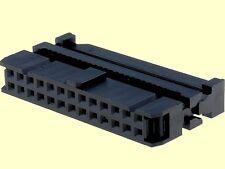 100 pcs. Pfostenverbinder Pfostenbuchse 26polig Flachbandkabel Zugentlastung #WP