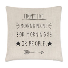 I Don't Like Morning People Linen Cushion Cover - Pillow Funny