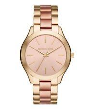 Michael Kors Women's Slim Runway Two Tone Gold & Rose Gold Bracelet Watch MK3493