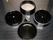 Space Case BLACK Grinder - 2.5 inch 67mm 4 piece + Cannabeads & Organic Wick