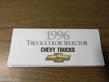MINT 1996 CHEVROLET CHEVY TRUCK COLOR SELECTOR CHART BROCHURE (BOX 296)