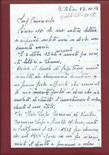 Supplica ad Onorevole per Risarcimento Morte Marito Battaglia Lenno 1958 Vinci