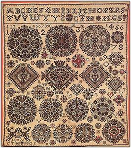 Sampler 1826 Museum Celle Permin of Copenhagen New Chart