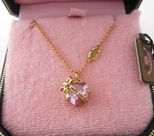Auth Juicy Couture Heart Banner Necklace Pink $48