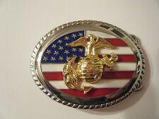 BEAUTIFUL Gleaming ---  USMC United States Marine Corps Belt Buckle  REDUCED!