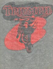 TRIUMPH vintage 70s iron on t shirt transfer NOS full size