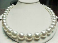 11-12mm 18inch AAAA+ Natural White SOUTH SEA Pearls Necklace 14K Clasp
