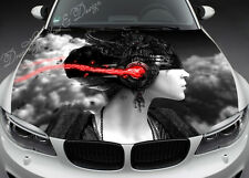 Abstract Girl Hood Full Color Graphics Wrap Decal Vinyl Sticker Fit any Car #070