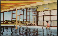 WHITE PLAINS MD Caravan Motel Pool View Vintage Maryland Postcard Early Old PC