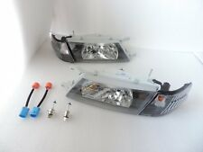 For 1995 96 97 98 99 Nissan Sentra B14 200SX SE-R Black Headlight + Corners HB14