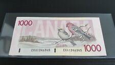 1988 $1000 Bill Bank of Canada QE2 Bird Series BC-61a Thiessen & Crow. Choice AU