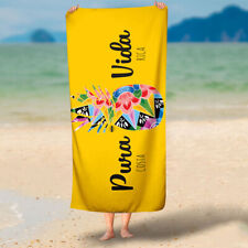 XL beach pool towel 100% cotton yellow pineapple Pura Vida absorbant