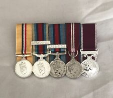 Court Mounted Mini Size Medals, Iraq, Afghanistan, Shader, Jubilee, LSGC Army