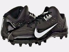 Mens Nike Football Cleats Alpha Strike 3/4  Black/White/Black Mens Size 12