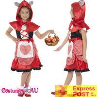 Girls Miss Little Red Riding Hood Costume Book Week Storybook Kids Fancy Dress