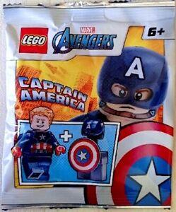 NEW LEGO CAPTAIN AMERICA MINIFIG FOIL PACK SET 242106 avengers minifigure 76168