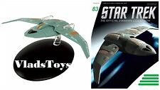 Eaglemoss Diecast Star Trek Bajoran Troop Transport Interceptor #83 w/Magazine