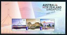 2015 Australia New Zealand Singapore Expo Joint Issue Sheet MNH