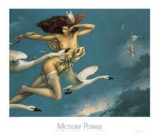 Michael Parkes Night Flight Fantasy Magical Weird Odd Nude Poster 31.5x27.5